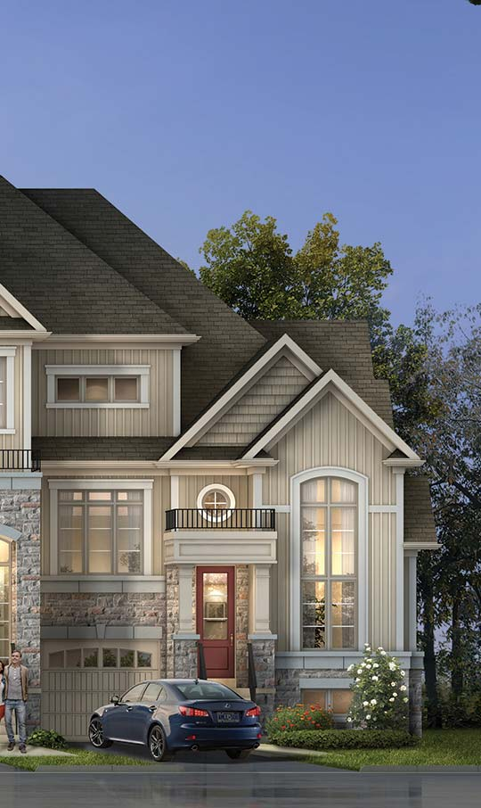 TH4, TRADITIONAL TOWNHOMES, Elevation B
